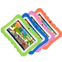 7-дюймовый детский планшет, Android, двойная камера, Wi-Fi, обучающая игра, подарок для мальчиков и девочек, вилка стандарта ЕС и США, музыкальный по...