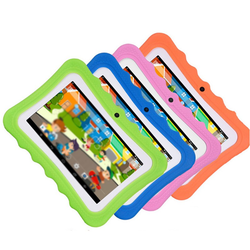Tableta para niños de 7 pulgadas con cámara doble, Android, Wifi, juego educativo, regalo para niños y niñas, enchufe europeo para EE. UU., regalo musical para niños y estudiantes