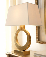 New American modern luxury villa gold table decorating table lamp Nordic retro bedroom bedside LED reading lights