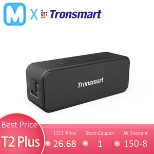Original Tronsmart T2 Plus Bluetooth Portable Speaker TWS Bluetooth 5.0 20W 24H IPX7 Small Size Black with Voice Assistant(China)