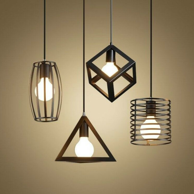 Retro Creative Iron LED Pendant Light LOFT Industrial Wind Bar Restaurant Light