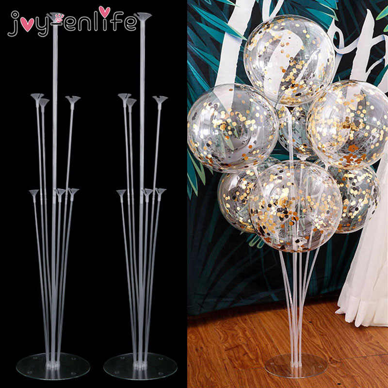 2set 14 Tubes Balloon Holder Balloons Stand Column Confetti Balloon Kids Birthday Party Baby Shower Wedding Decoration Supplies