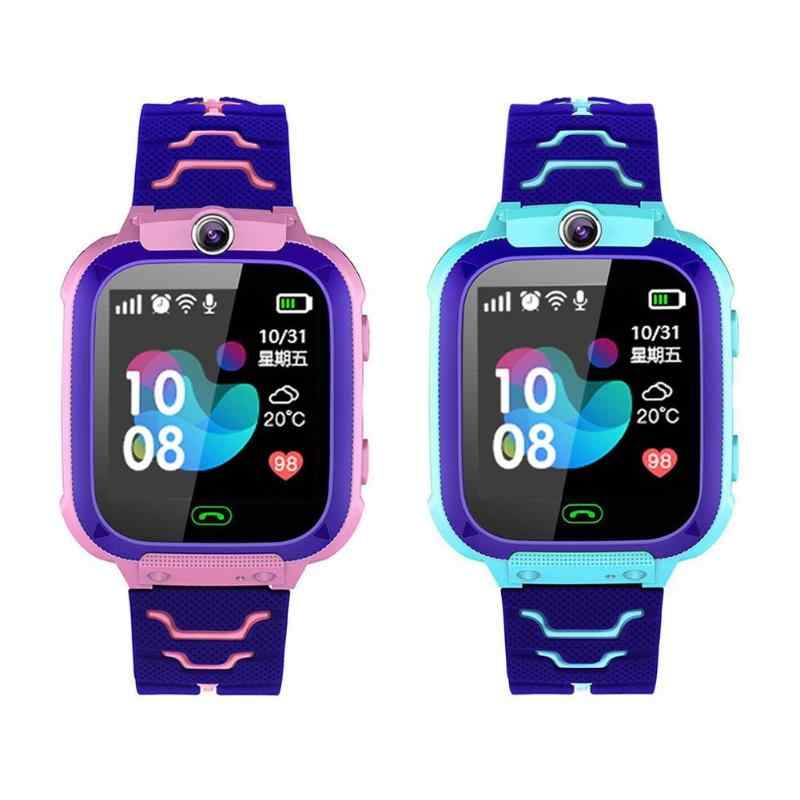 Anak Smart Watch Kamera Pencahayaan Touch Screen SOS Call Layar Sentuh Lbs Pelacakan Lokasi Finder Anak-anak Bayi Smart Watch
