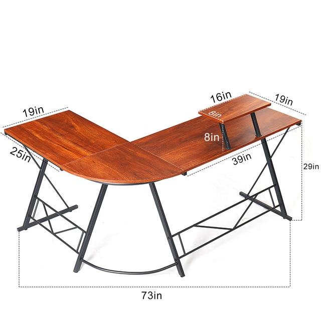 1 L-shaped Corner Laptop Desk  5