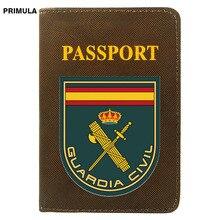 New Arrivals España Guardia Civil Printing Women Men Passport Cover Pu Leather Travel ID Credit Card Holder Pocket Wallet