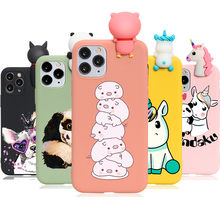 Cute 3D Animals Doll Coque Case For iPhone 10 7 8 6 6S Plus XR X XS 11 Pro Max 5 5S SE 2 2020 Soft TPU Panda Unicorn Back Cover(China)