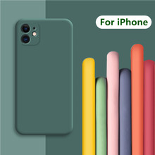 Luxo macio líquido silicone caso para iphone se 2020 capa para iphone 11 pro max xr xs 5 6s 7 8 mais se 2 se2 capa