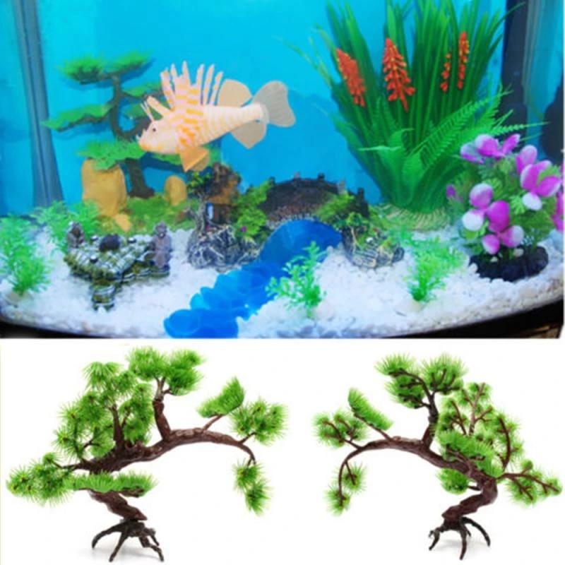 1 Pcs Artificial Mini Pine Plants Diy Bonsai Aquarium Plastic Pine Tree Decoration Fish Tank Simulation Water Grass Ornament Artificial Plants Aliexpress