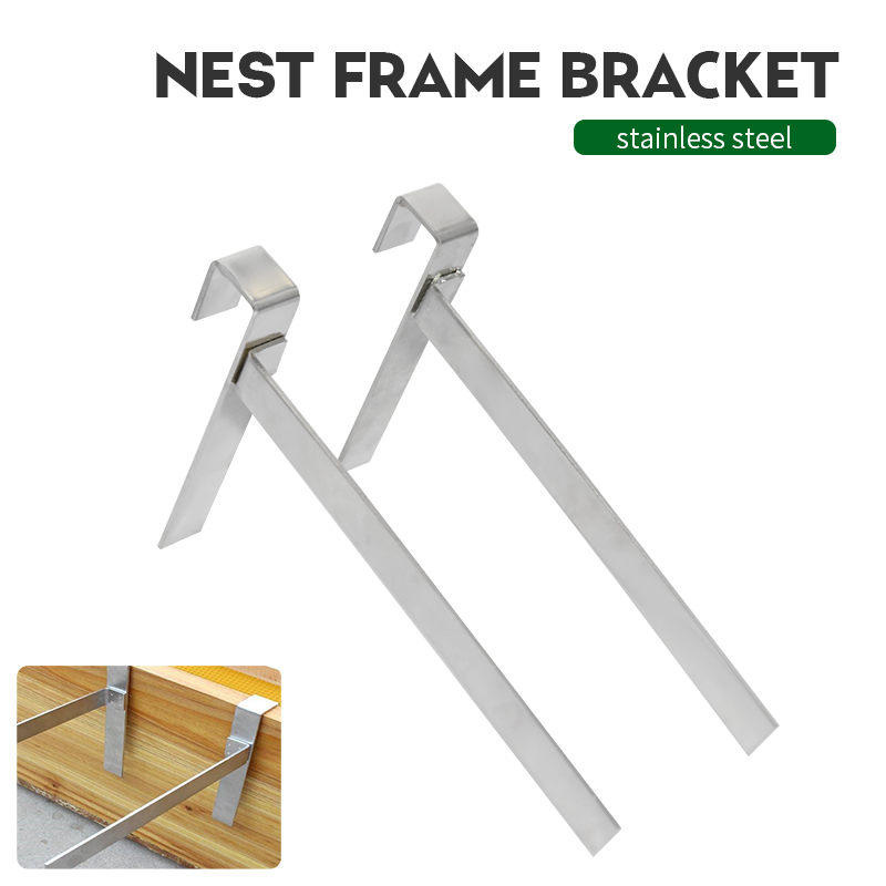 1x Stainless Steel Beekeeping Frame Holder Bee Hive Perch Durable Equipment Kit