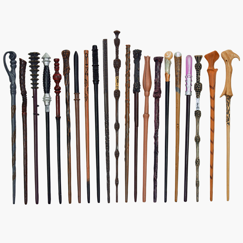 28 Kinds Of Potters Magic Wands Cosplay Harried Dumbledore Voldmort Snape Metal/Iron Core Magic Wand Without Box Halloween Gift