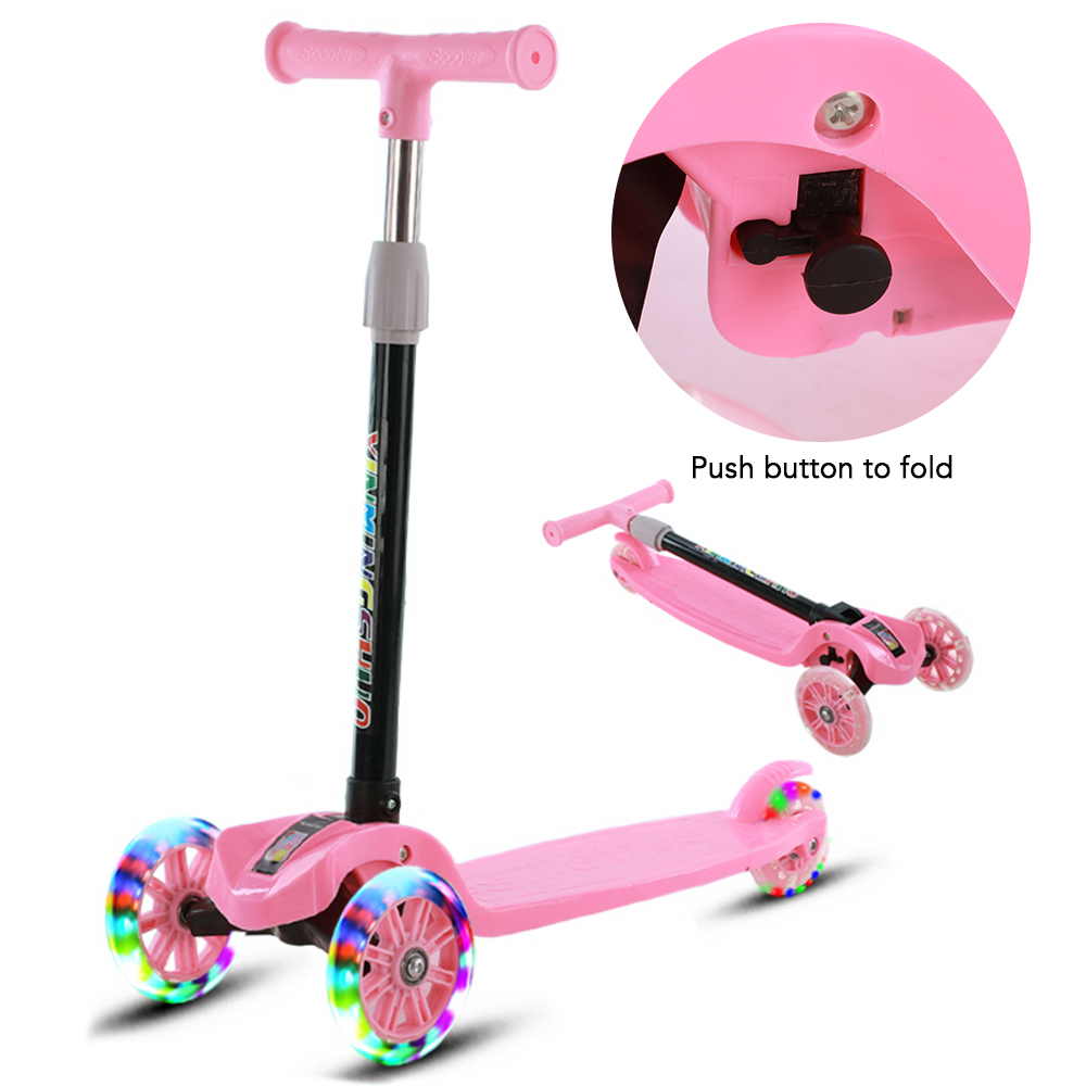 Height Adjustable 3-Wheel Scooter Folding Skate for Kids Child Gifts Toy Play US