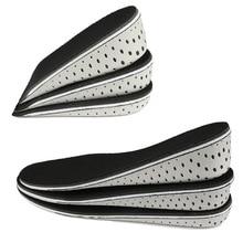 Стельки унисекс на полполовины каблука, дышащие вставки для обуви, стельки для увеличения роста, 2 4 см, уход за ступнями, 1 пара