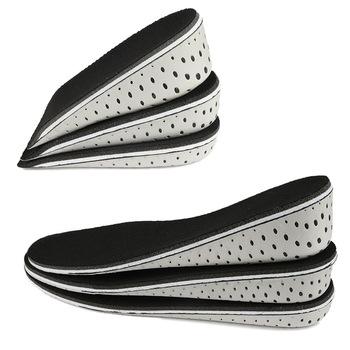 1 Pair Women Men Height Increase Insole Breathable Unisex Full Half Insoles Heel Insert Sports Shoes Pad Cushion 2-4cm foot care healthy pair unisex soft winter self heating magnetic deodorant insole warm pad for shoes foot cushion pad