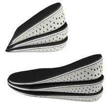 Semelles intérieures unisexes respirantes pour augmenter la hauteur, 1 paire, pour hommes et femmes, demi semelles complètes pour insérer des chaussures de sport, coussin de 2 4cm