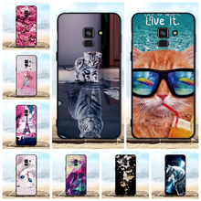For Samsung Galaxy A8 2018 Case Cover Soft Silicone Shell A530F 3D Cute Cat Phone Cases