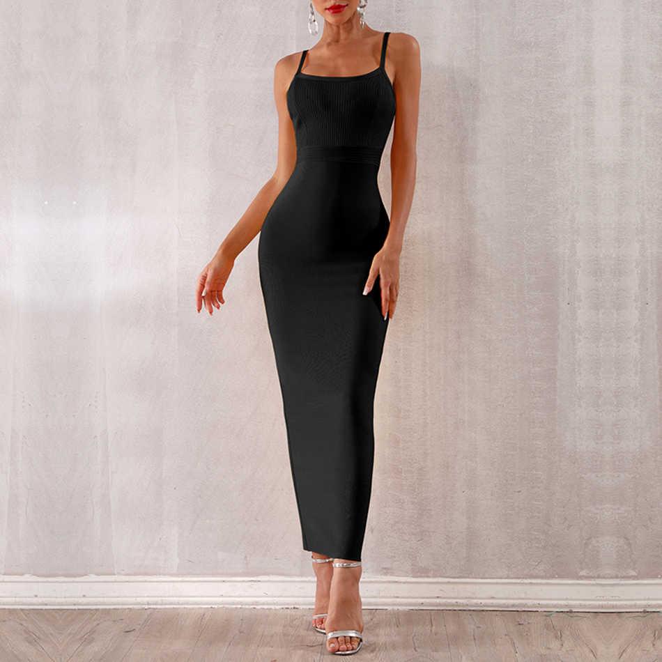 Seamyla 2019 Для женщин летние платья повязки Соблазнительные, элитные, выходные платья Спагетти ремень Bodycon Nihgtclub Длинные Maxi Dress Vestidos