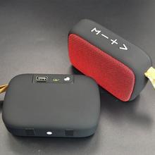 2021 HIFI Wireless Bluetooth Speaker Portable Stereo Column Fabric Subwoofer Speaker Music Player TF Card U Disk Loudspeaker