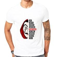 Showtly-Camiseta De La Casa De Papel para hombre, camisetas De serie De televisión, ropa De calle, La Casa De Papel De manga corta, divertida, Harajuku, De gran tamaño