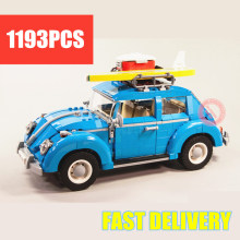 цена на New Technic Series Blue Beetle Car City Fit Legoings Technic Car 10252 City Model Building Blocks Bricks Diy Toy Gift Kid