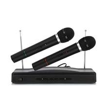 AT-306 Professional Karaoke Dual Wireless Handheld Microphone System Home KTV
