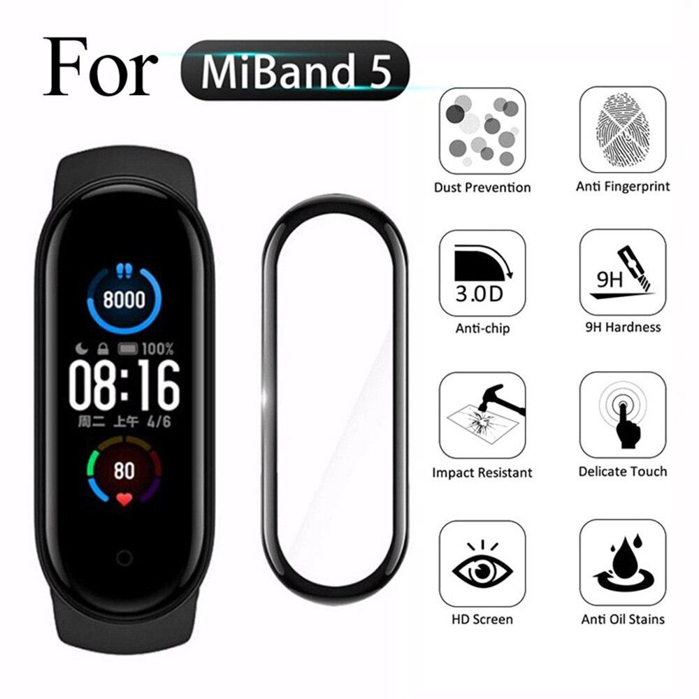 3D Volle Abdeckung Screen Protector Glas Gebogene Smartwatch Schutz Film für Xiaomi Mi Band 5 4 Uhr Zubehör Dropship