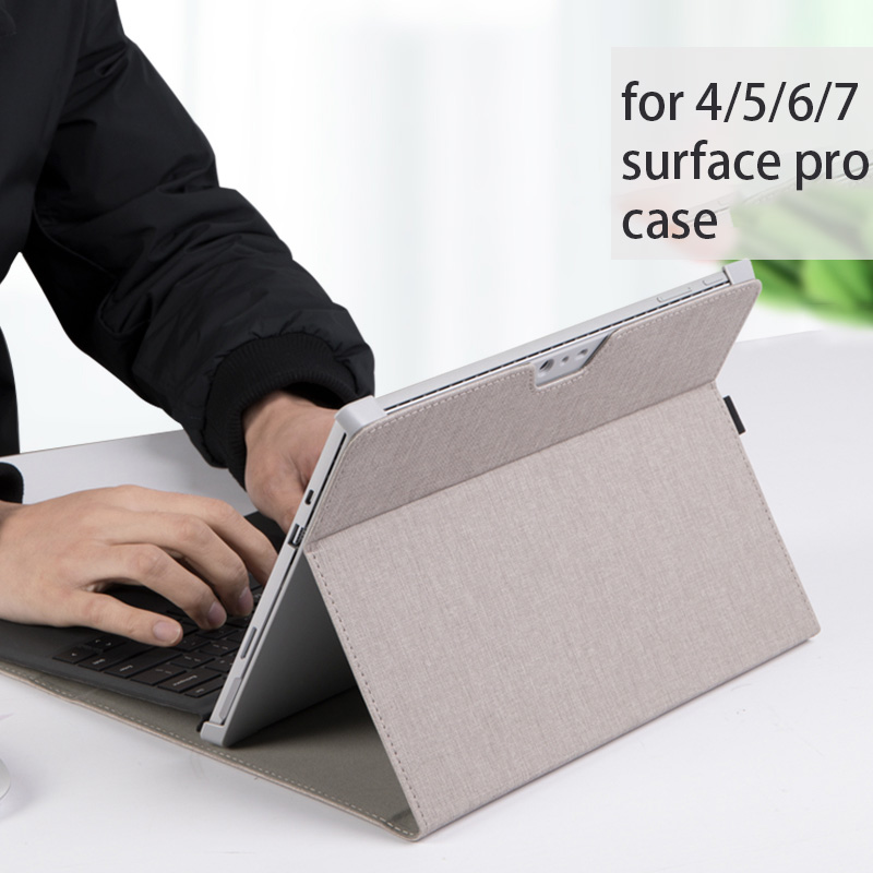 Image 4 - Men Laptop Tablet Sleeve for Microsoft Surface Pro 6 New pro 7 Angles Folio Stand Case for Surface Pro 5 4 Women Laptop BagTablets & e-Books Case   -