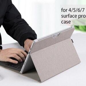 Image 4 - 남성 노트북 태블릿 용 Microsoft Surface Pro 6 새로운 프로 7 각도 폴리오 표면 pro 5 4 여성 노트북 가방