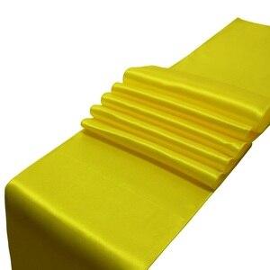 Image 1 - Runner da tavolo in raso stile Jacquard 10 pz/set 30x275cm per la decorazione della tavola dellhotel