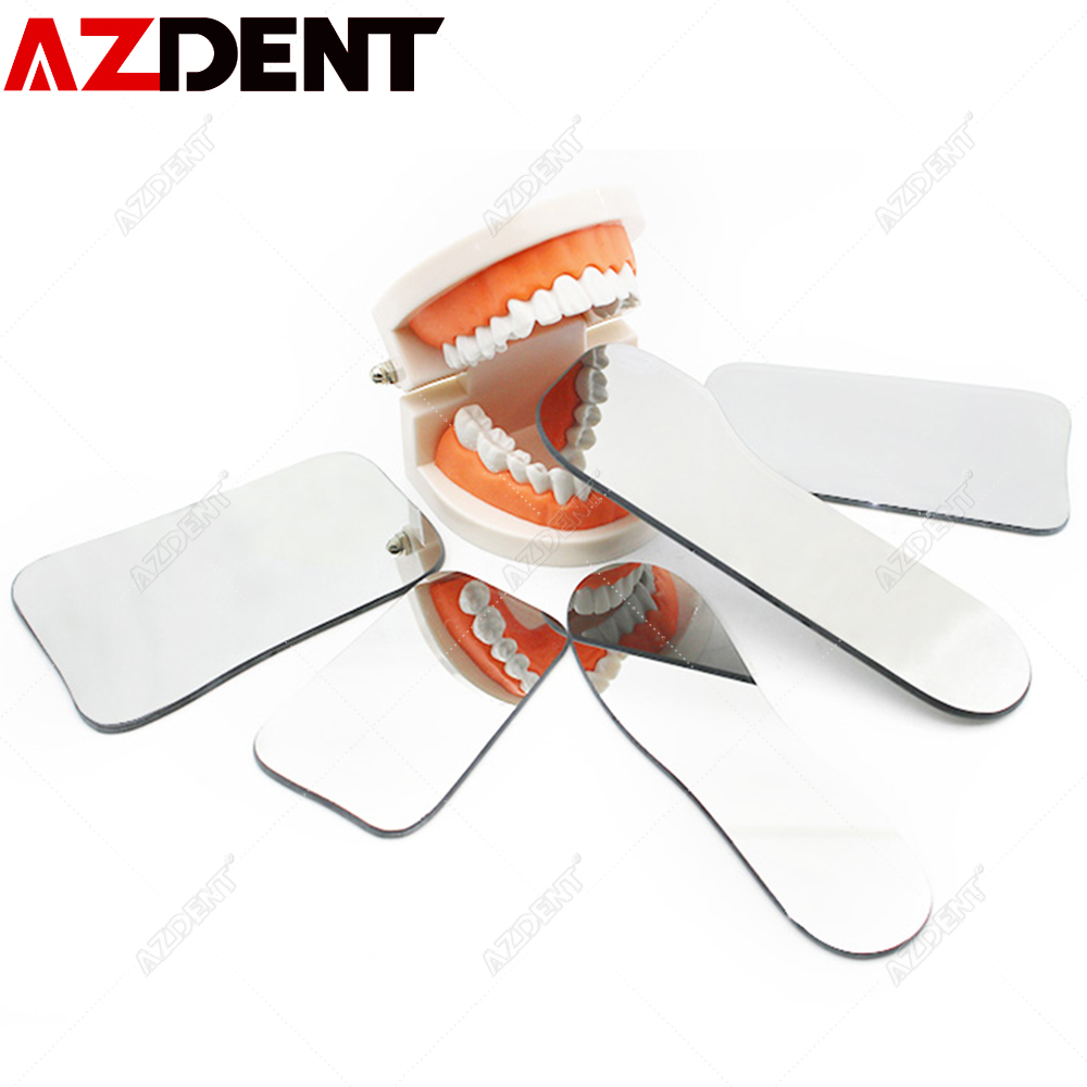 5pcs/set Azdent Dental Orthodontic Dental Photography Double-Sided Mirrors Dental Tools Glass Dental Photography Mirror