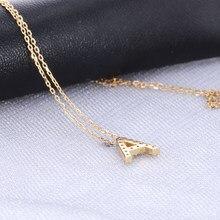18k ouro def laboratório crescido diamante inicial 26 carta pingente