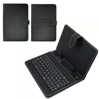 Tablet Case For Samsung Galaxy Tab A 10.1 Inch Tablet Cover Black PU+PC Leather Case Cover With Built-in USB Wired Keyboard