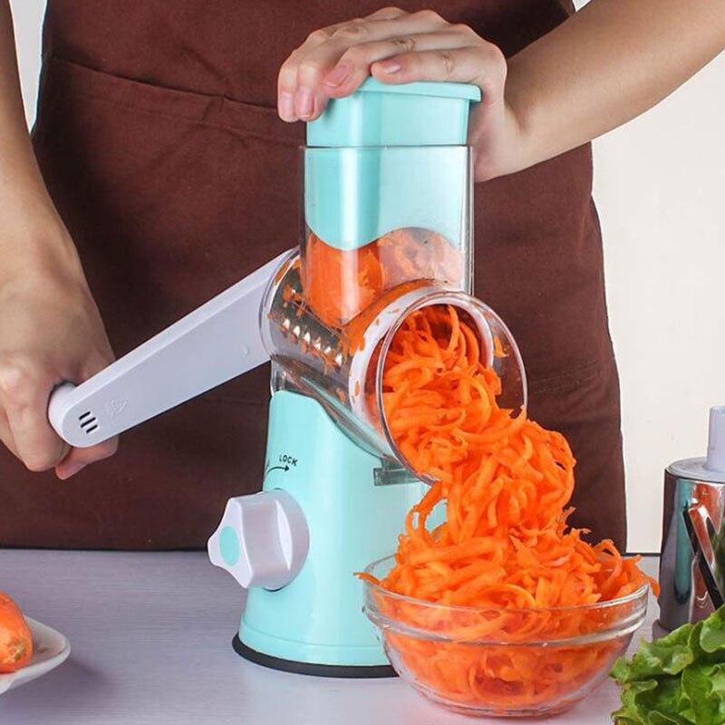 多機能マニュアル野菜スパイラルスライサーポテトチップチーズおろし器巧妙な野菜カッターキッチンツール