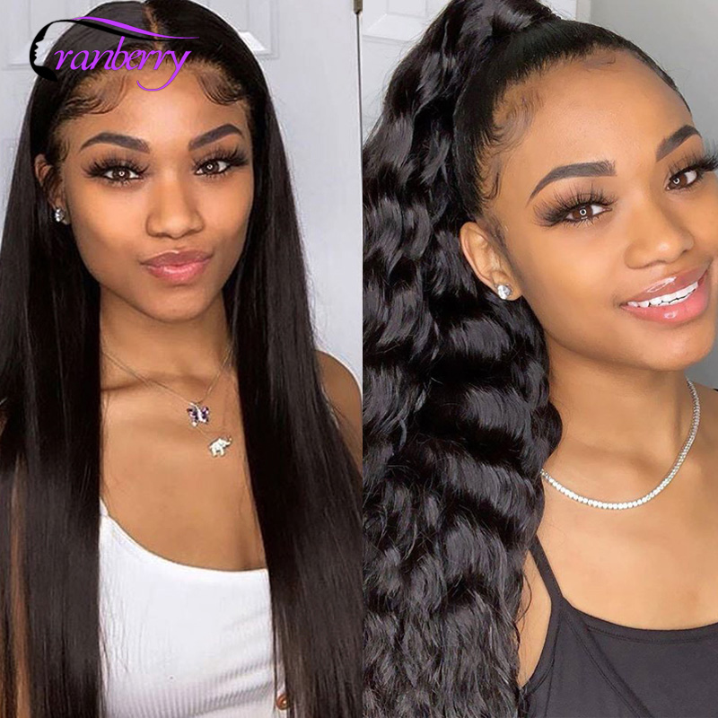 Cranberry Wet And Wavy Curly Short Lace Front Human Hair Wigs 1*4 Deep Parting 150 Density Remy Lace Front Wigs For Black Women
