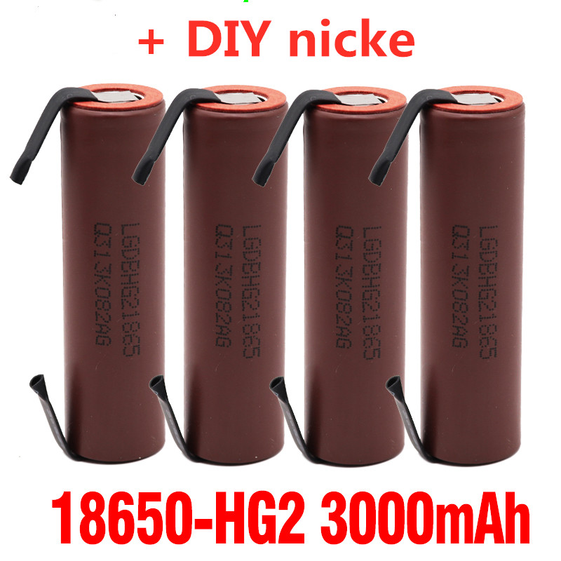 2-6 stücke Original große kapazität 18650 3000mah akku für LG HG2 3000mah power entladung große strom + DIY nicke