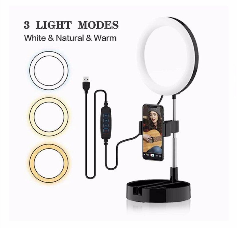 Светодиодный складной светодиодный кольцо свет триколор выдвижной