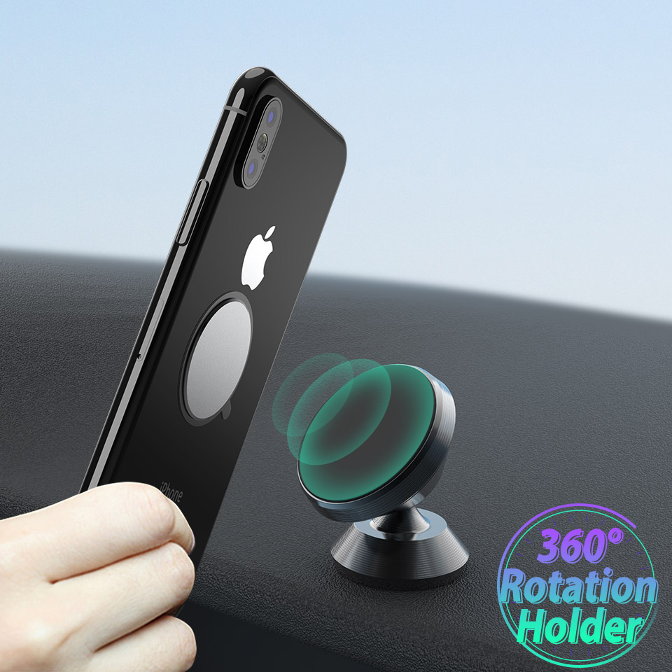 Magnetic Car Holder For IPhone 6 7 8 Plus XS MAX XR X Mount Car Phone Holder For Xiaomi Mi 9 8 Mobile Phone 360 Degree GPS Stand