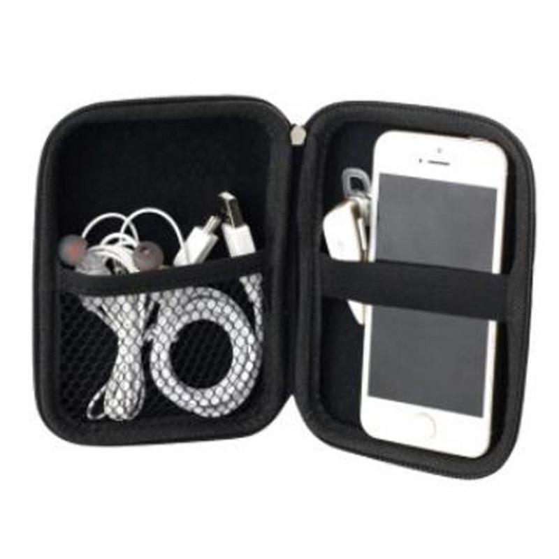 2.5-inch Hard Disk Package Headset Bag Bag Multi-function Mobile Power Package EVA Pouch Games HDD Hard Drive Disk Bags Zipper