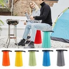 Retractable Stool Folding Chiar Outdoor Portable Stool Folding Chair Camping Stool Convenient Fishing Foldable plastic stool