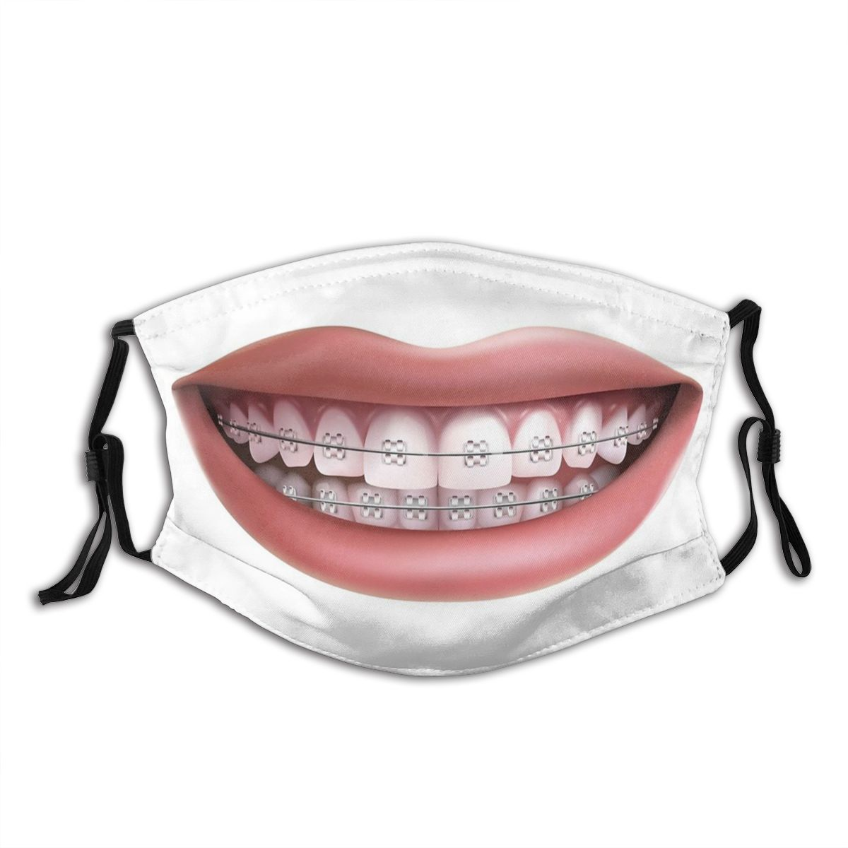 Smile Adult Reusable Face Mask Anti Bacterial Dust Mask With Filters Protection Mask Respirator Mouth Muffle