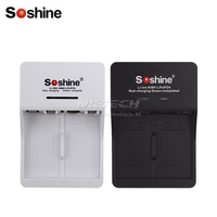 Soshine 9V Li-Ion Ni-Mh Batterie Ladegerät Smart SC-V1 6F22 Wiederaufladbare Lithium-LiFePO4 Batterien Ladegeräte 2-Slot Eingang AC 90-260V