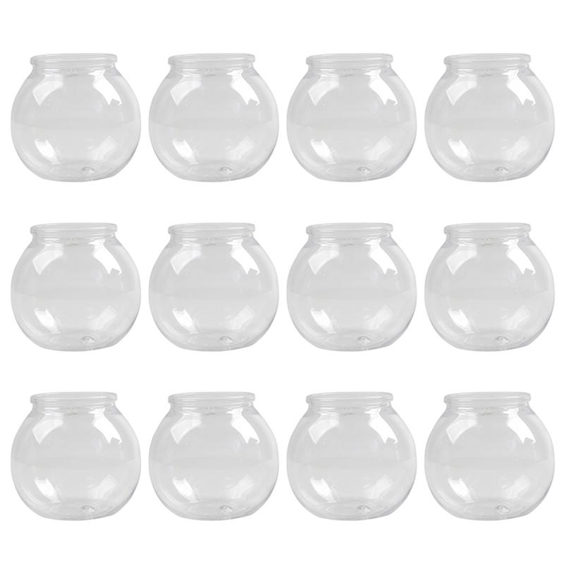 12 Set Transparent Disposable Plastic Dessert Cups Environmental Party Small Cup