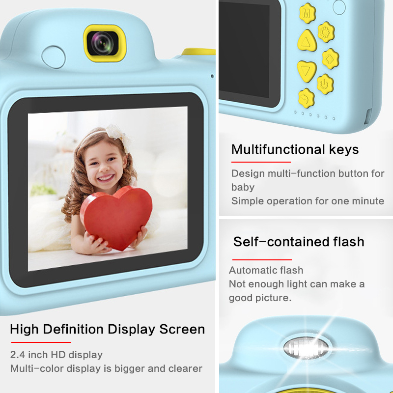 H1e9c7c745d7f4ce9a4db3a8c30fa529fC Children Mini Camera Kids Educational Toys Camera for Children Birthday Gifts Digital Camera 1080P Projection Video Camera