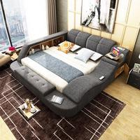 RAMA DYMASTY fabric cloth bed massage Modern Soft Beds Home Bedroom Furniture