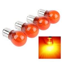 4 шт. 21 Вт Янтарная лампа для стайлинга Автомобиля Световой индикатор лампа заднего хода парковочный свет указатель поворота для 1156 PY21W BA15S