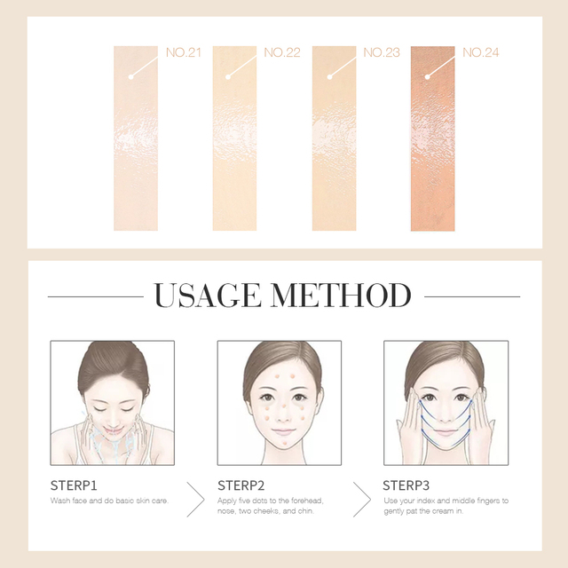 O.TWO.O Makeup BB Cream White  Cosmetics Natural Whitening Cream Waterproof Makeup Base Liquid Foundation Professional Cosmetics 6