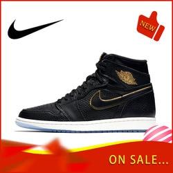 Original official authentic NIKE AIR JORDAN 1AJ1 men's basketball shoes fashion classic sports shoes breathable new 555088-031