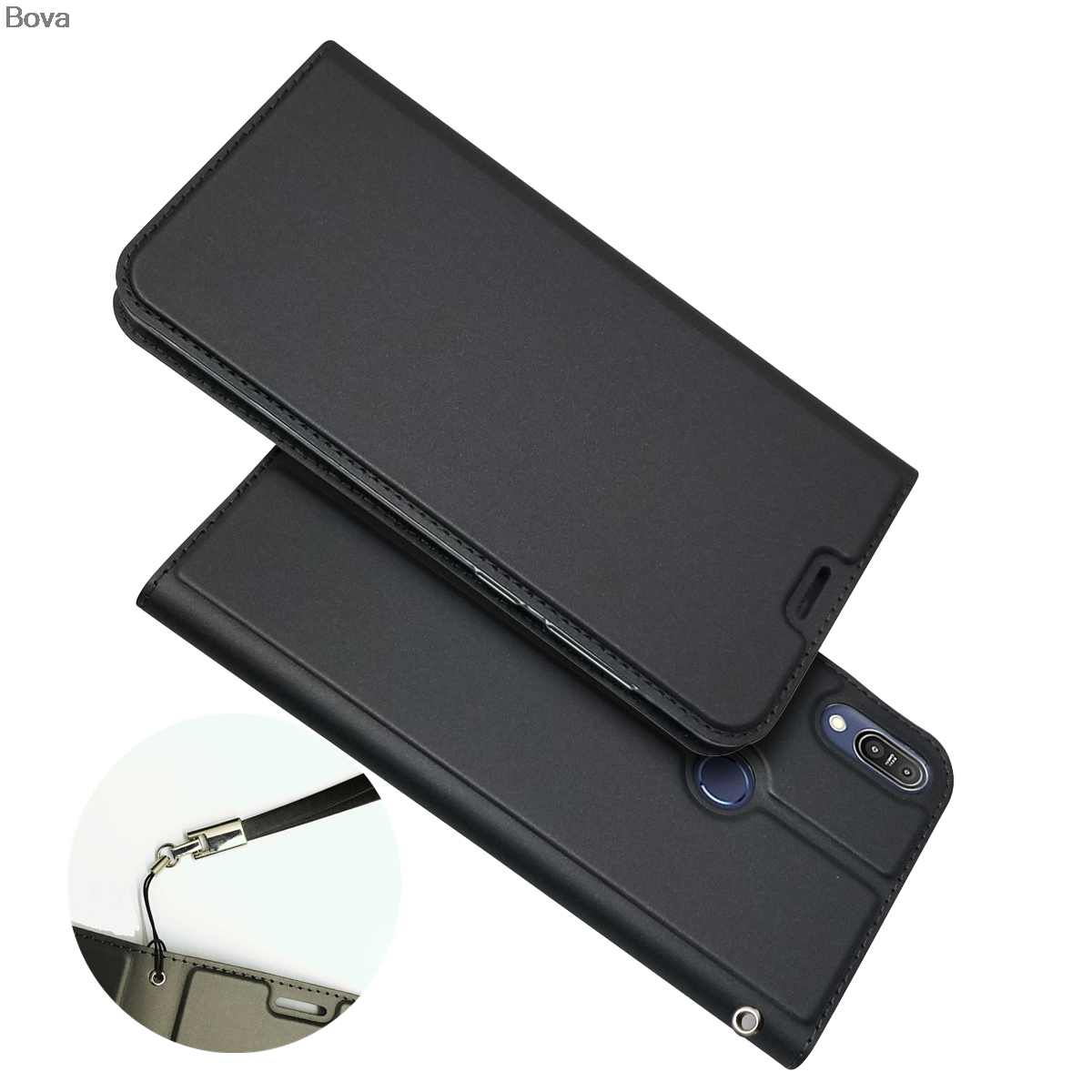 Wallet Case for <font><b>Asus</b></font> Zenfone Max Pro (M1) <font><b>ZB601KL</b></font> / ZB602KL Drop-proof Phone Case Magnetic attraction Ultra-thin Matte Touch image