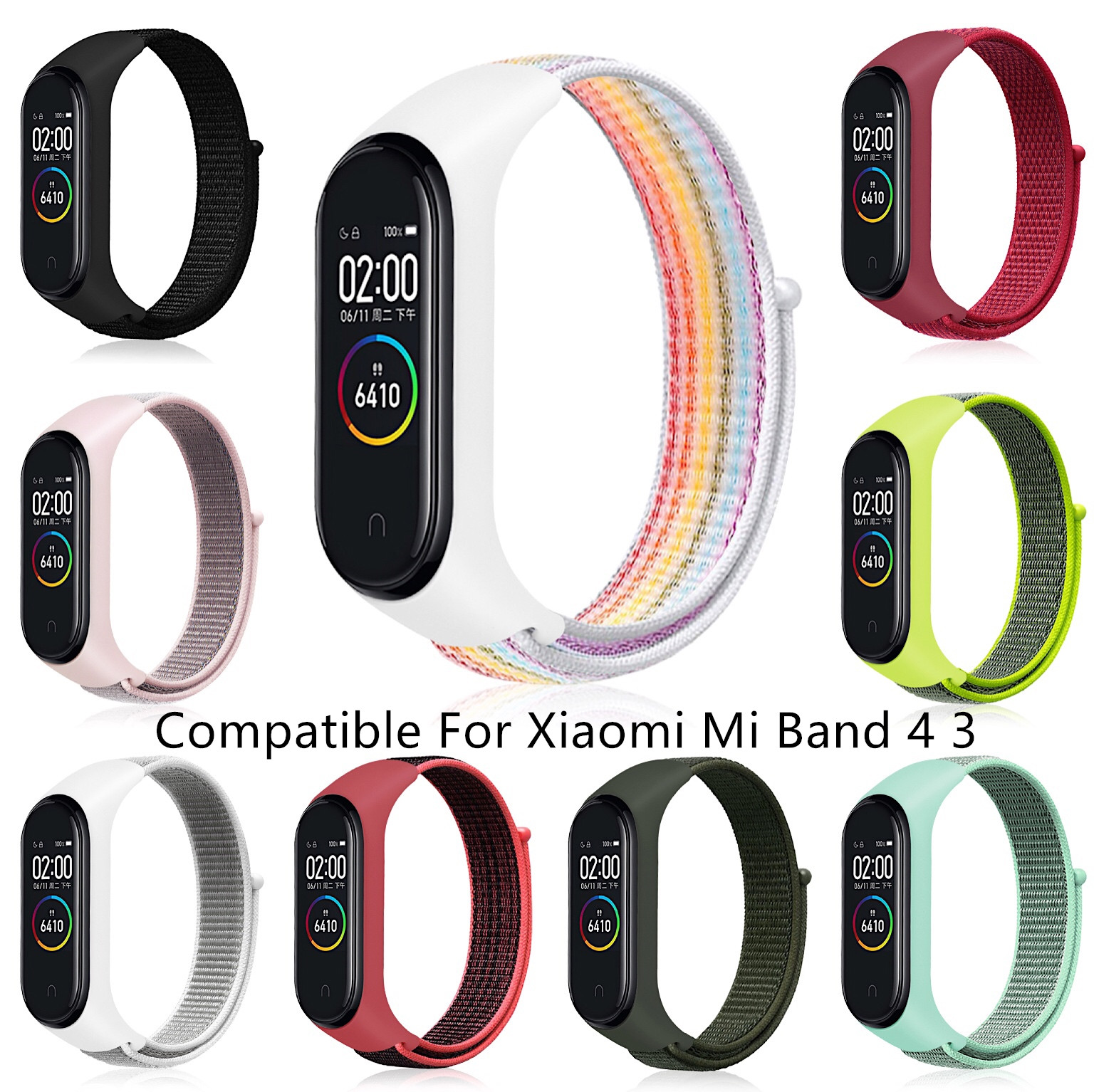 YAYUU Nylon Loop Replaceable WristStrap For Xiaomi Mi Band 4 Sports Watch Band Breathable Strap For Xiaomi Mi Band 3 Smart Watch