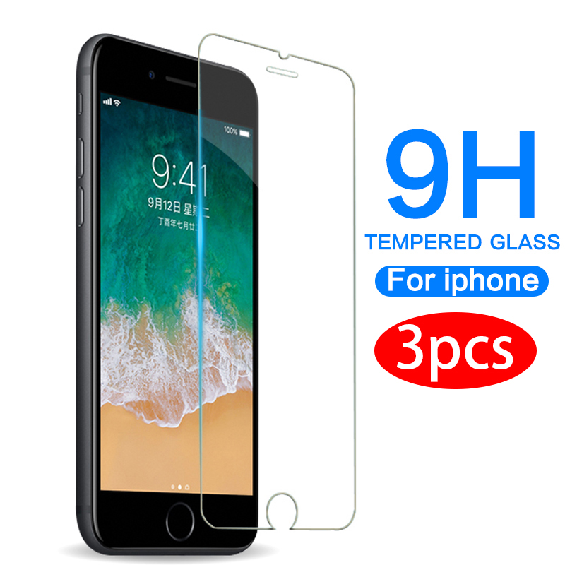Protective glass for iphone 6 7 plus 6 6s 8 plus 11 Pro XS max XR glass iphone 7 8 x title=