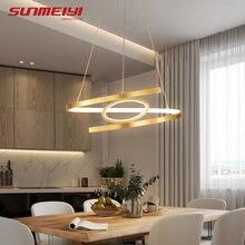 Алюминиевый подвесной светильник современная лампа золотого